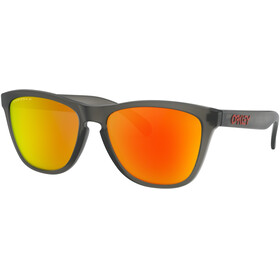 Oakley Frogskins Sunglasses Women matte grey/smoke prizm/ruby polarized
